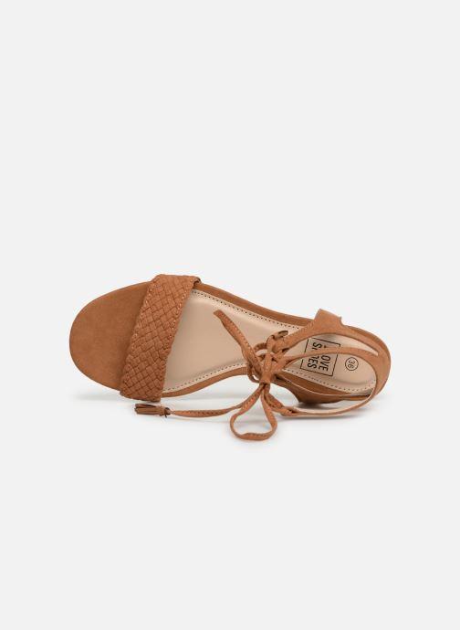 Sandales et nu-pieds I Love Shoes Golice Marron vue gauche