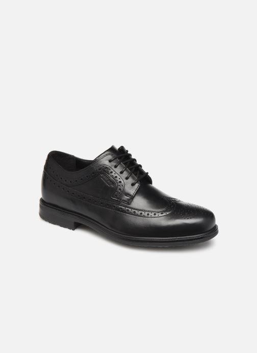 Chaussures à lacets Rockport Esntial Dtl II Wing Tip Noir vue détail/paire