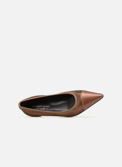 Ballet pumps Elizabeth Stuart Xim 731 Brown view from the left