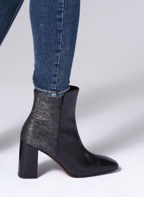 Noir Bottines Elizabeth Boots noir 133 Pilat cuir noir Et Stuart 8Nv0nwm