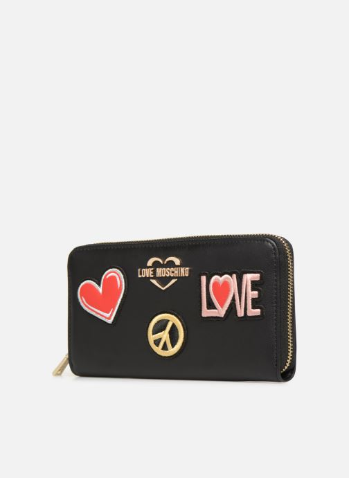 Petite Maroquinerie Love Moschino CIAO WALLET Noir vue portées chaussures