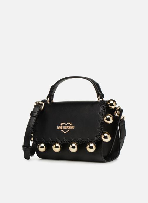 Handbags Love Moschino GOLDEN BALLS BAG Black model view