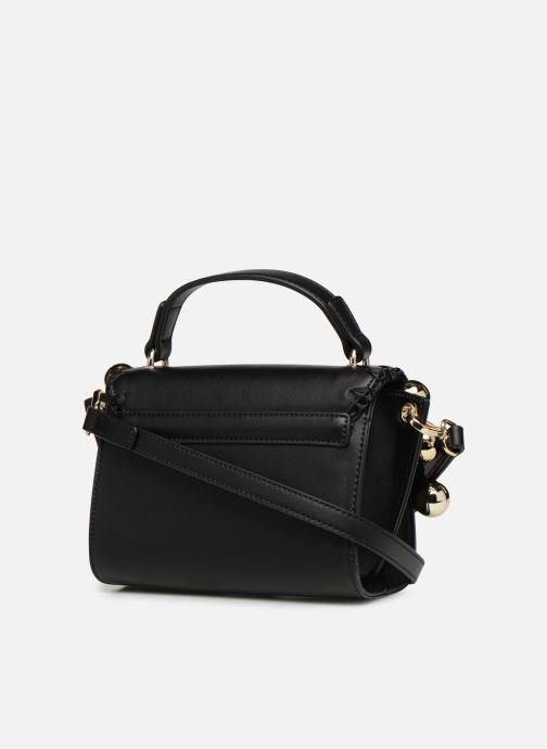 Handtaschen Love Moschino GOLDEN BALLS BAG schwarz ansicht von rechts