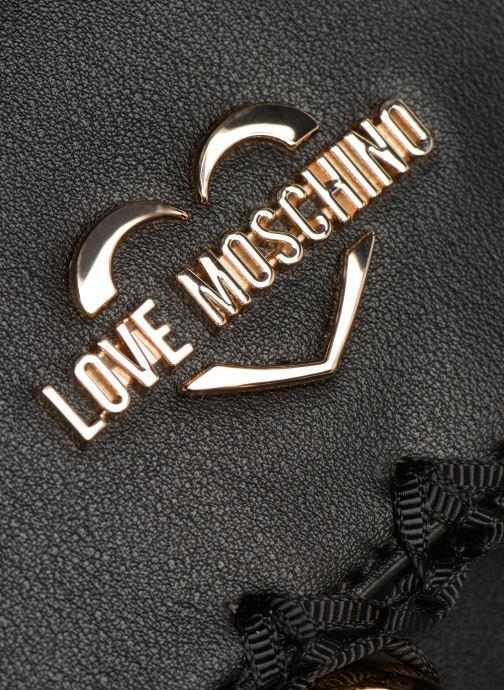 Handtaschen Love Moschino GOLDEN BALLS BAG schwarz ansicht von hinten