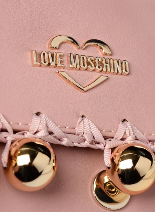Sacs à main Love Moschino GOLDEN BALLS BAG Rose vue gauche