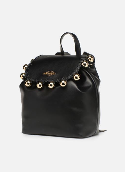Rucksäcke Love Moschino GOLDEN BALLS BAGPACK schwarz schuhe getragen