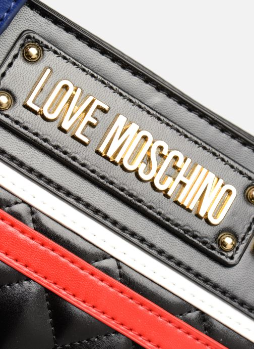Sacs à main Love Moschino STRIPES QUILTED Cabas Noir vue derrière