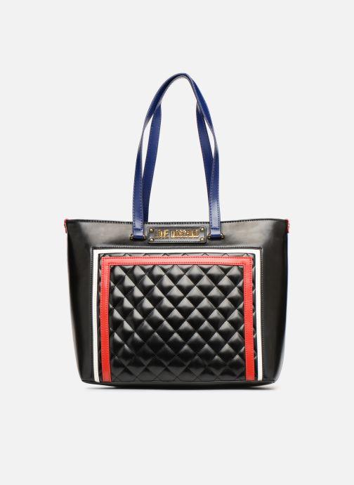 Sacs à main Love Moschino STRIPES QUILTED Cabas Noir vue détail/paire