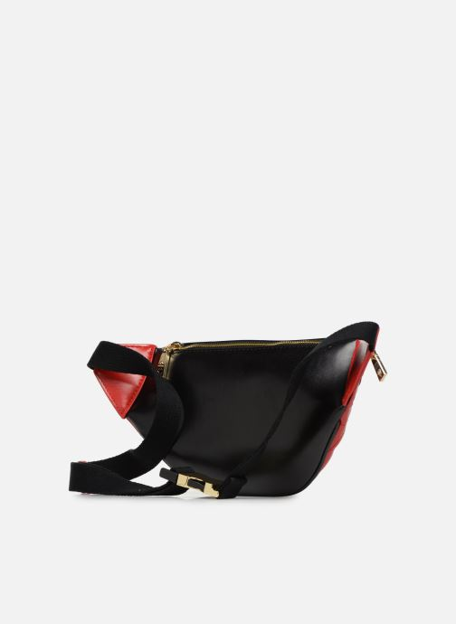 Petite Maroquinerie Love Moschino STRIPES QUILTED Banane Rouge vue droite
