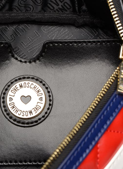 Petite Maroquinerie Love Moschino STRIPES QUILTED Banane Rouge vue derrière