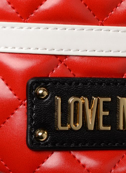 Petite Maroquinerie Love Moschino STRIPES QUILTED Banane Rouge vue gauche