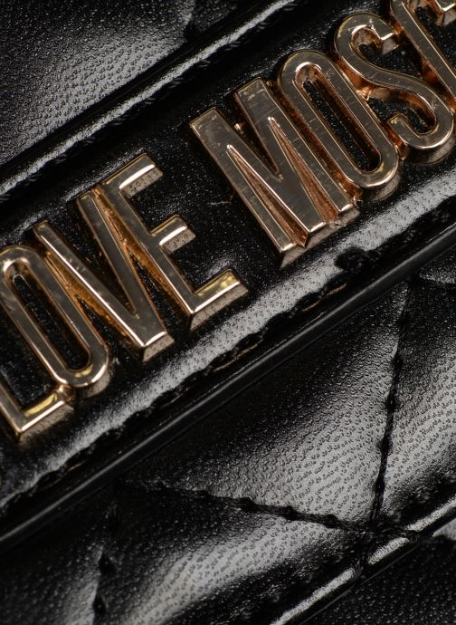 Sacs à main Love Moschino NEW QUILTED Evening Bag Noir vue gauche