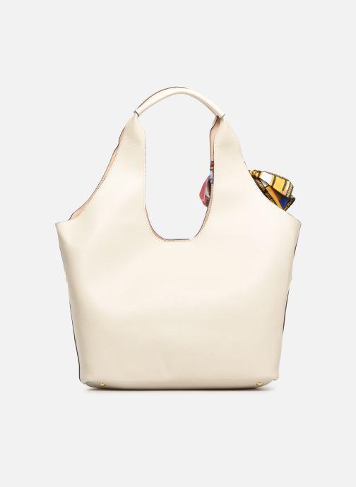 Handtaschen Love Moschino LETTERING LM Hobo weiß ansicht von vorne