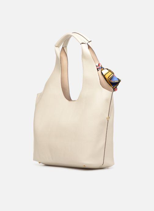 Handtaschen Love Moschino LETTERING LM Hobo weiß ansicht von rechts