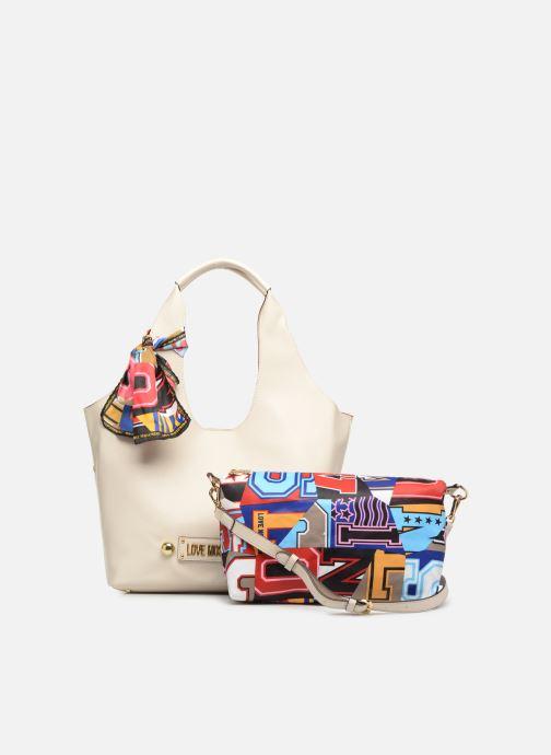 Handtaschen Love Moschino LETTERING LM Hobo weiß ansicht von links