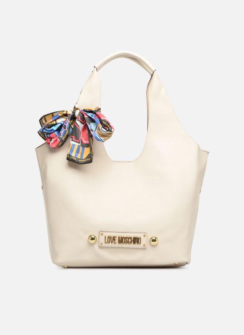 Handtaschen Love Moschino LETTERING LM Hobo weiß detaillierte ansicht/modell