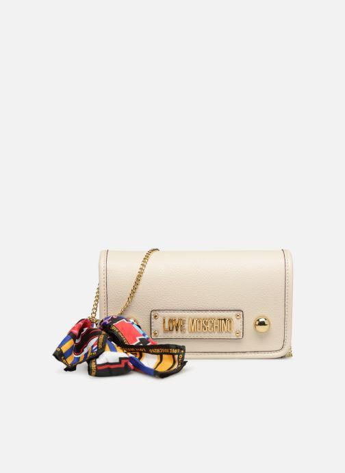 Bolsos de mano Love Moschino LETTERING LM Crossbody Blanco vista de detalle / par