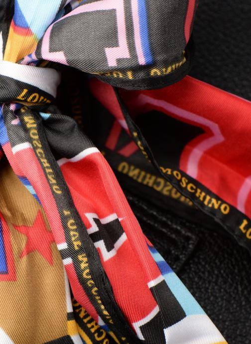 Bolsos de mano Love Moschino LETTERING LM Porté main Negro vista lateral izquierda