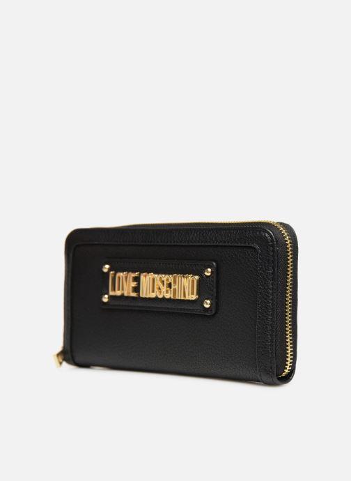 Marroquinería pequeña Love Moschino LETTERING LM Wallet Negro vista del modelo