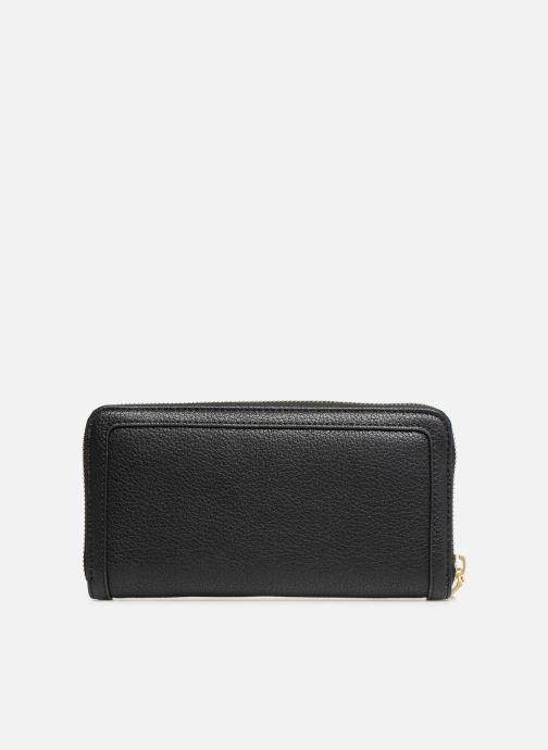 Kleine lederwaren Love Moschino LETTERING LM Wallet Zwart voorkant