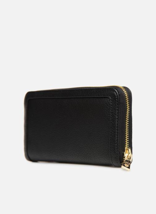 Marroquinería pequeña Love Moschino LETTERING LM Wallet Negro vista lateral derecha