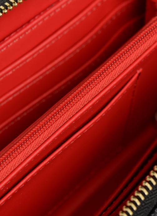 Kleine lederwaren Love Moschino LETTERING LM Wallet Zwart achterkant