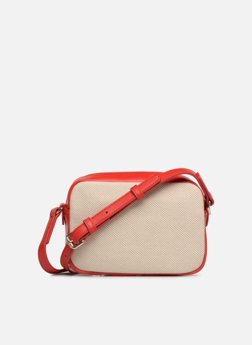Sacs à main Love Moschino CANVAS & BRODERY Camera Bag Blanc vue face