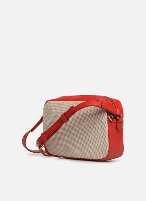 Sacs à main Love Moschino CANVAS & BRODERY Camera Bag Blanc vue droite