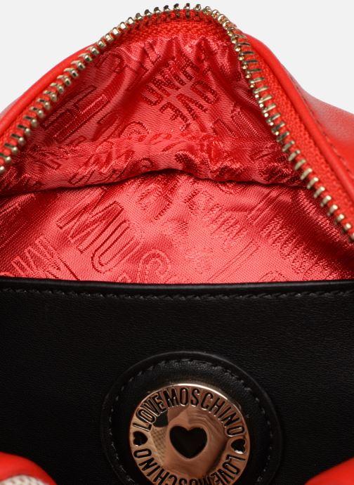Sacs à main Love Moschino CANVAS & BRODERY Camera Bag Blanc vue derrière