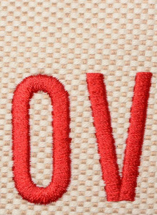 Bolsos de mano Love Moschino CANVAS & BRODERY Camera Bag Blanco vista lateral izquierda