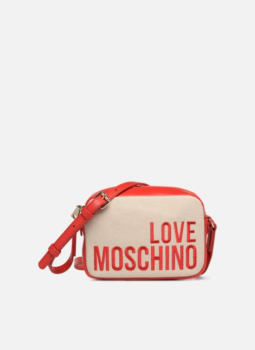 Bolsos de mano Love Moschino CANVAS & BRODERY Camera Bag Blanco vista de detalle / par