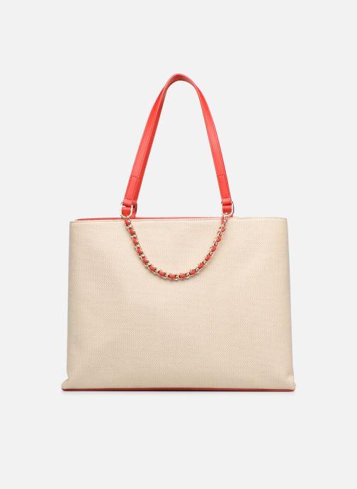 Handtaschen Love Moschino CANVAS & BRODERY Cabas weiß ansicht von vorne