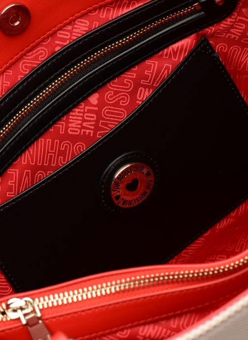 Handtaschen Love Moschino CANVAS & BRODERY Cabas weiß ansicht von hinten