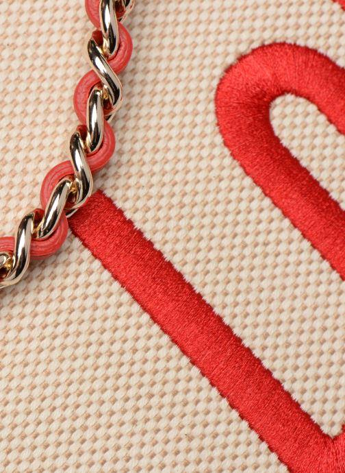 Bolsos de mano Love Moschino CANVAS & BRODERY Cabas Blanco vista lateral izquierda