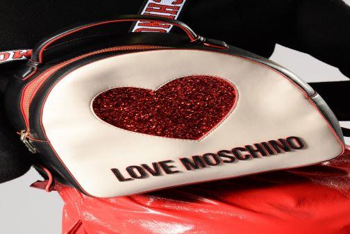 Sacs à dos Love Moschino BACK TO SCHOOL Backpack Blanc vue bas / vue portée sac