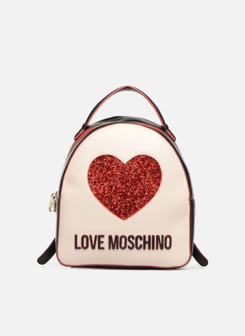 Sacs à dos Love Moschino BACK TO SCHOOL Backpack Blanc vue détail/paire