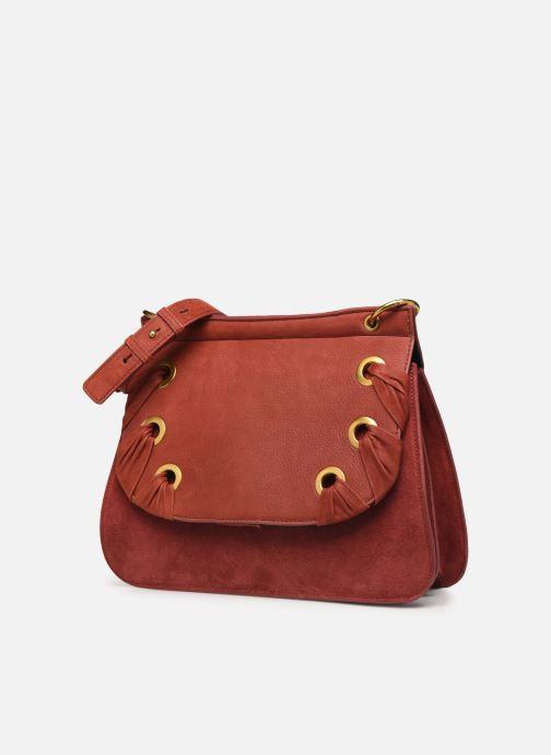 Handtaschen Nat & Nin VITTORIA rot schuhe getragen