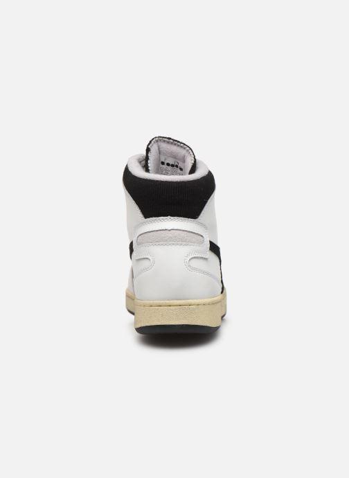 Sneakers Diadora Mi Basket Used Bianco immagine destra