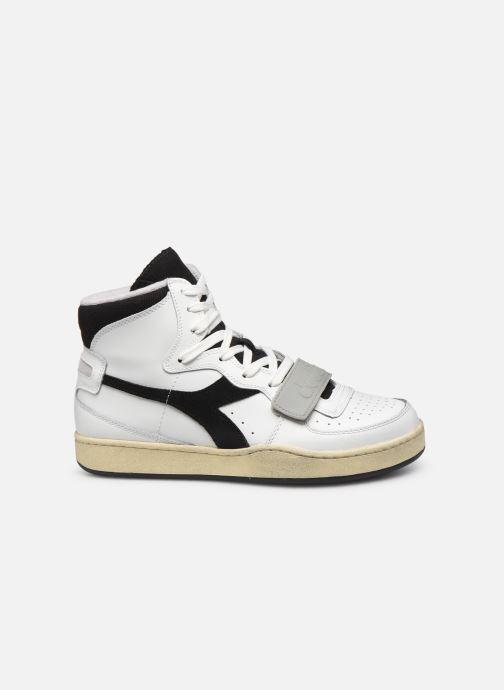 Sneakers Diadora Mi Basket Used Bianco immagine posteriore