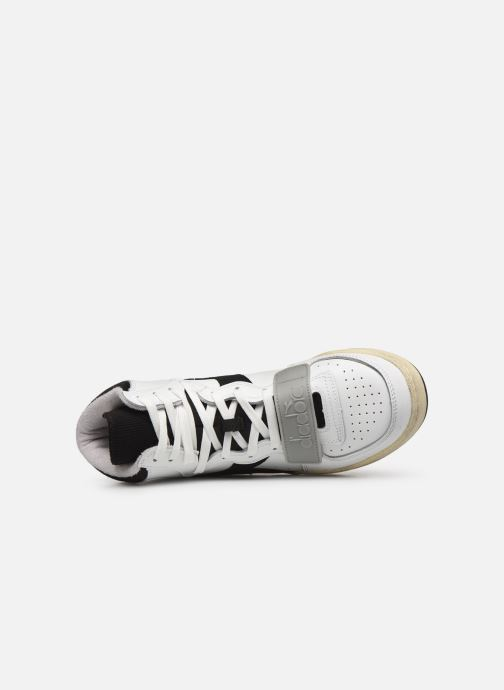 Sneakers Diadora Mi Basket Used Bianco immagine sinistra