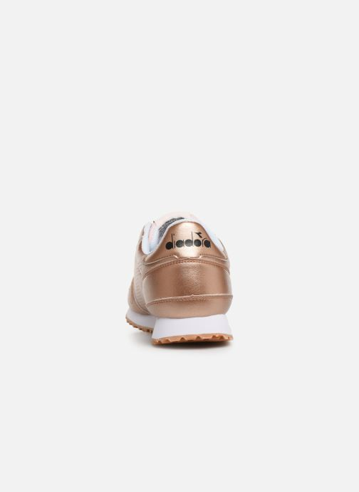 Trainers Diadora Titan Wn Metallic Bronze and Gold view from the right