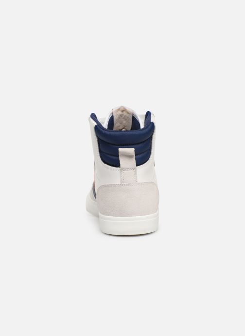 Hummel White Limited Baskets High Leather blue Stadil Qrsdth
