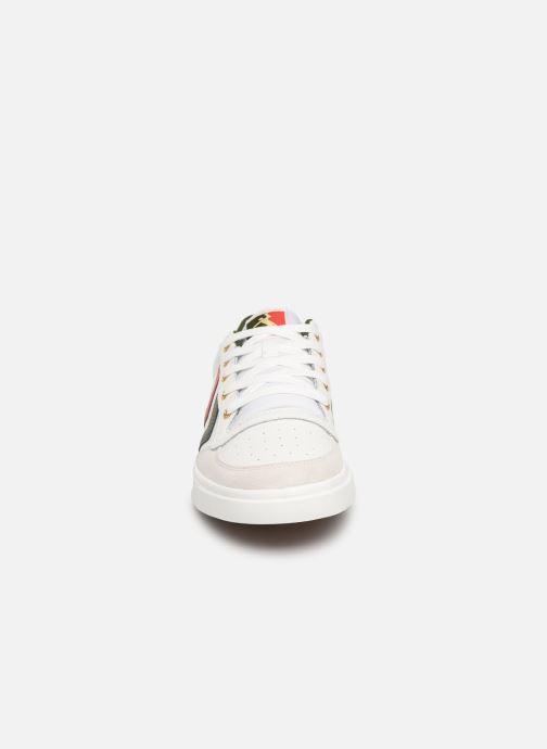 Baskets Hummel Stadil Limited Low Leather Blanc vue portées chaussures