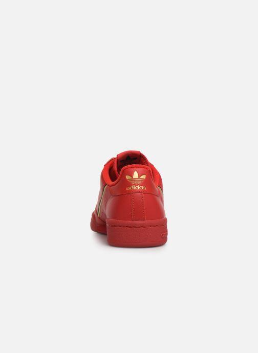Baskets Adidas Originals Continental 80 W Rouge vue droite