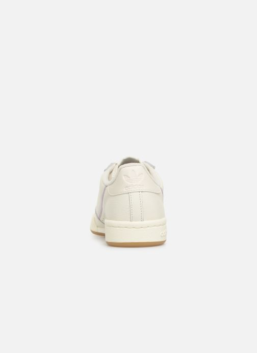 Sneakers adidas originals Continental 80 W Wit rechts