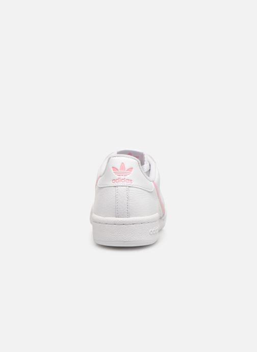 Sneakers adidas originals Continental 80 W Wit rechts
