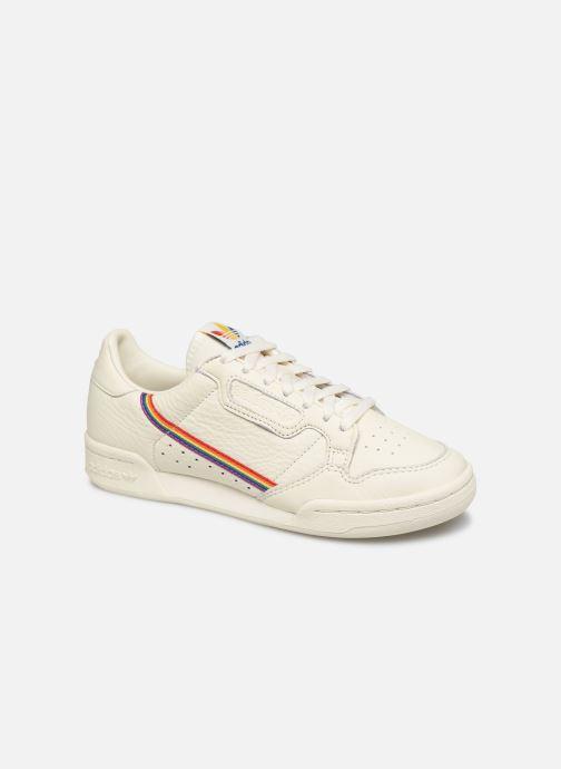 Deportivas adidas originals Continental 80 W Blanco vista de detalle / par