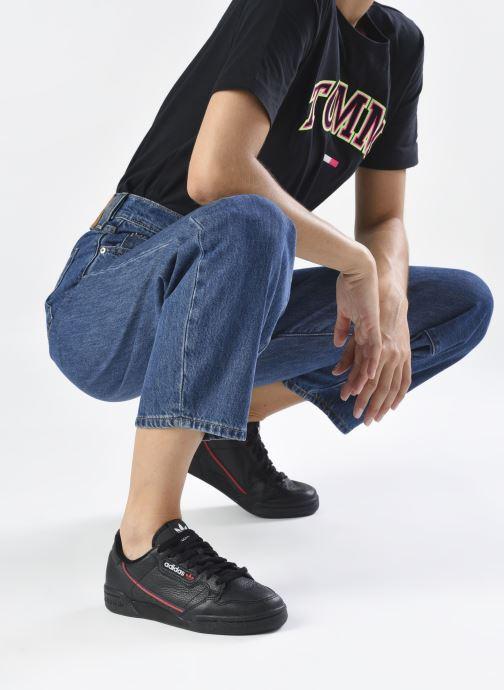 Baskets adidas originals Continental 80 W Noir vue bas / vue portée sac