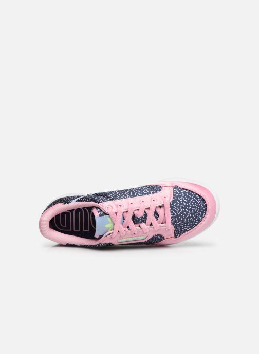 Sneaker adidas originals Continental 80 W blau ansicht von links
