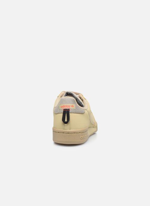 Baskets adidas originals Continental 80 W Beige vue droite